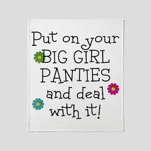 big girl Throw Blanket