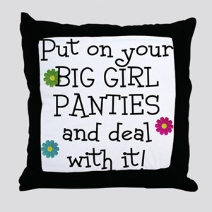 big girl Throw Pillow
