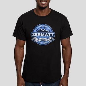 Zermatt Blue Men's Fitted T-Shirt (dark)
