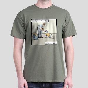 Buy Me A Robot Dog - Homework Dark T-Shirt