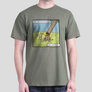 Buy Me A Robot Dog - Marking Dark T-Shirt