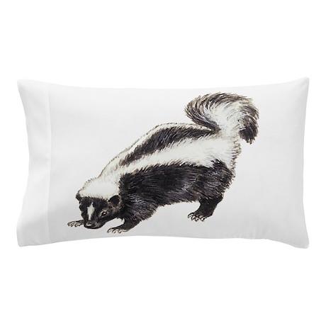 Skunk Drawing Pillow Case By Petdrawings