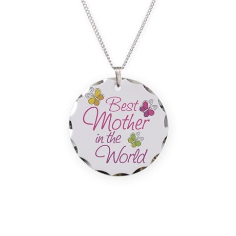 Mothers Day Necklace Circle Charm
