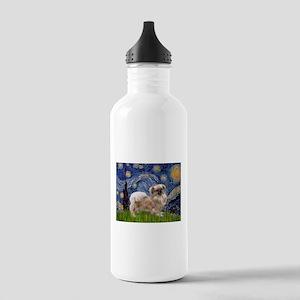Starry / Tibetan Spaniel Stainless Water Bottle 1.