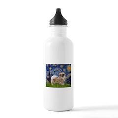 Starry / Tibetan Spaniel Water Bottle