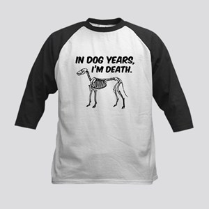 In Dog Years I'm Death Kids Baseball Jersey