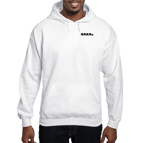 Elephant Train Hooded Sweatshirt