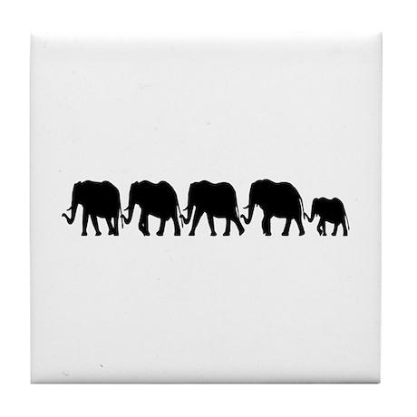 Elephant Train Tile Coaster