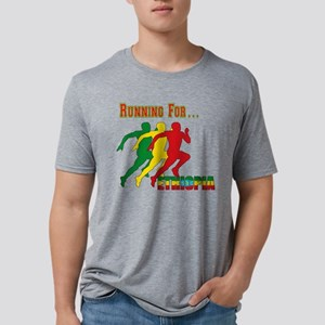 Running Ethiopia Mens Tri-blend T-Shirt
