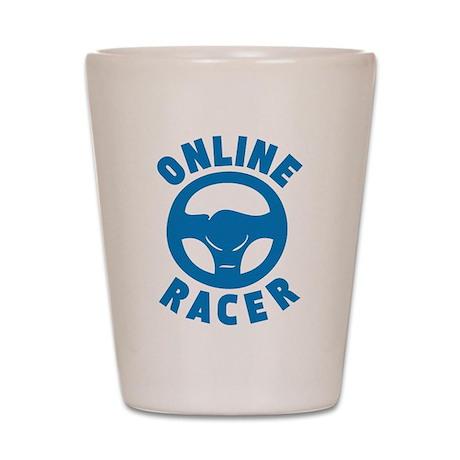 Online Racer Shot Glass