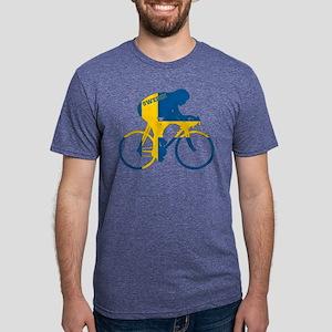 Sweden Cycling Mens Tri-blend T-Shirt