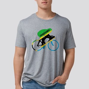 Tanzania Cycling Mens Tri-blend T-Shirt