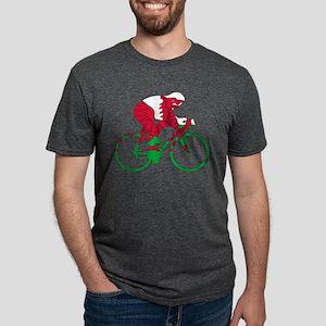 Wales Cycling Mens Tri-blend T-Shirt