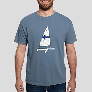Finland Dinghy Sailing Mens Comfort Colors Shirt