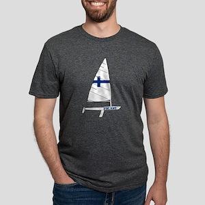 Finland Dinghy Sailing Mens Tri-blend T-Shirt
