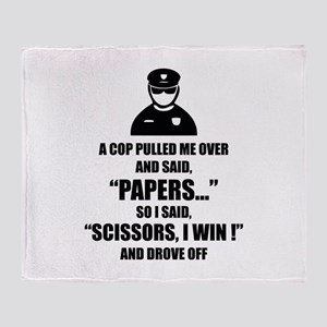 A cop pulled me over ... Throw Blanket