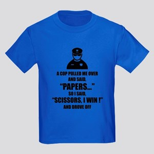 A cop pulled me over ... Kids Dark T-Shirt