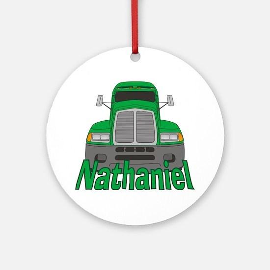 Trucker Nathaniel Ornament (Round)