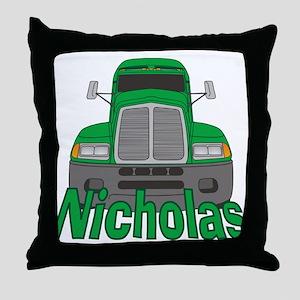 Trucker Nicholas Throw Pillow