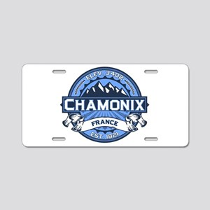 Chamonix Blue Aluminum License Plate