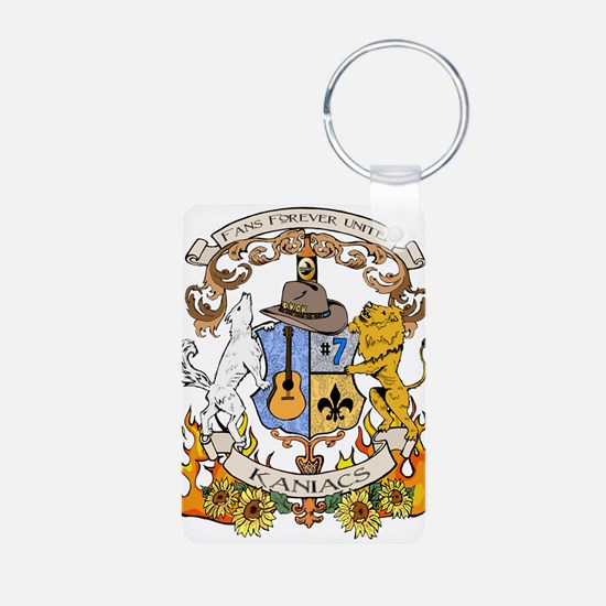 Kaniac Crest English Motto Keychains