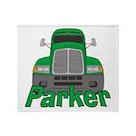 Trucker Parker Throw Blanket
