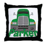 Trucker Parker Throw Pillow