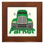 Trucker Parker Framed Tile