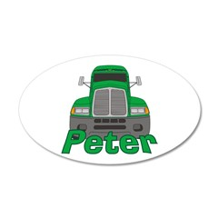 Trucker Peter 38.5 x 24.5 Oval Wall Peel