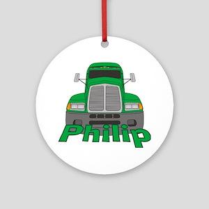 Trucker Philip Ornament (Round)