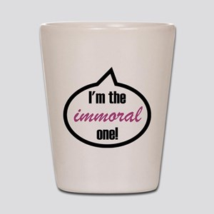 I'm the witty one! Shot Glass