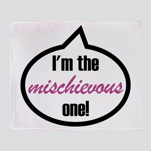 I'm the mischievous one! Throw Blanket