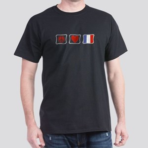 Peace, Love and France Dark T-Shirt