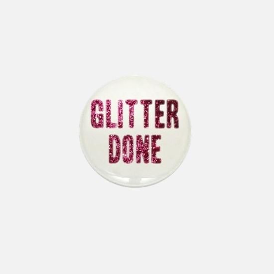 Glitter Done H Mini Button