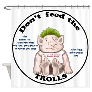 Funny Troll Shower Curtains