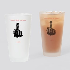 Middle Finger Merchandise Drinking Glass