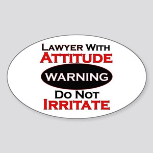 Attitude lawyer Sticker