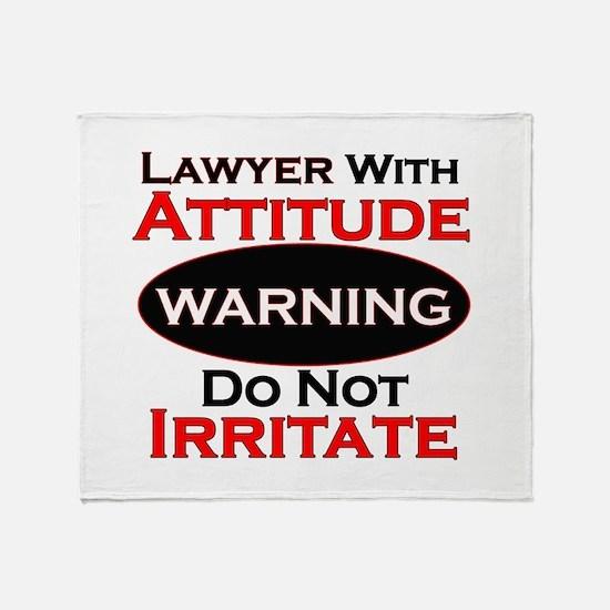 Cute Lawyer Throw Blanket
