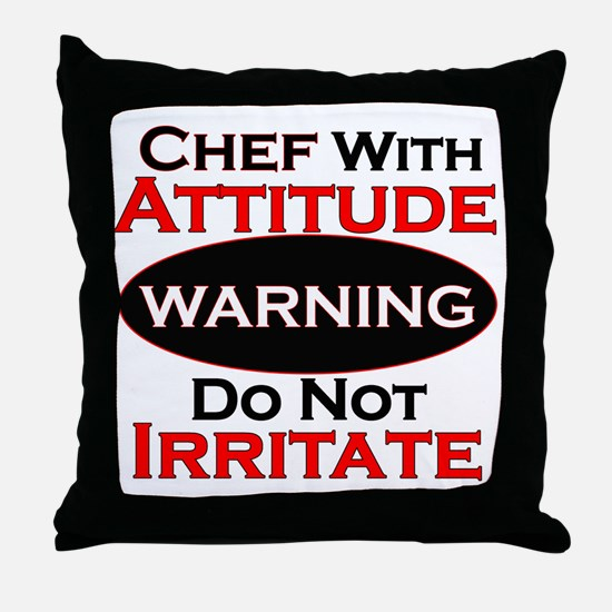 Cute Chef Throw Pillow