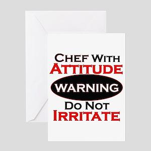 Attitude Chef Greeting Cards