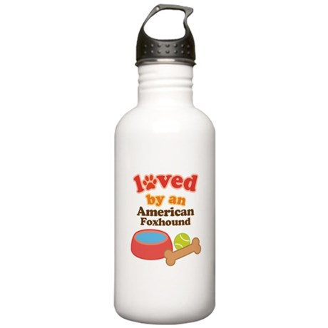 American Foxhound Dog Gift Stainless Water Bottle