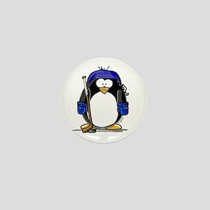 Hockey Penguin Mini Button