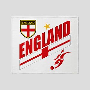 England World cup Soccer Throw Blanket
