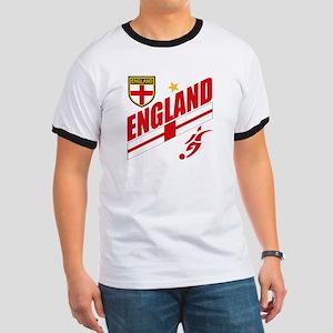 England World cup Soccer Ringer T