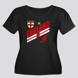England World cup Soccer Women's Plus Size Scoop N