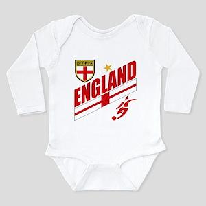 England World cup Soccer Long Sleeve Infant Bodysu