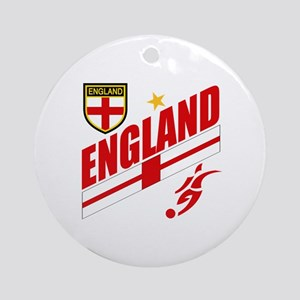 England World cup Soccer Ornament (Round)