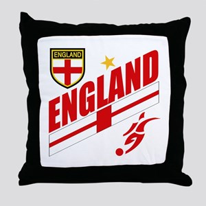 England World cup Soccer Throw Pillow