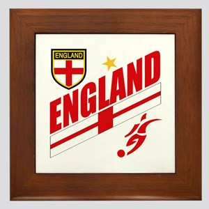 England World cup Soccer Framed Tile