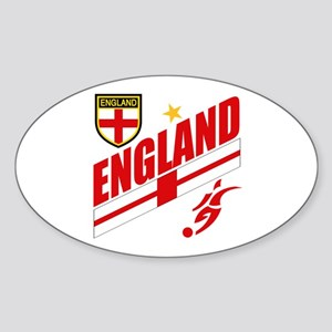 England World cup Soccer Oval Sticker
